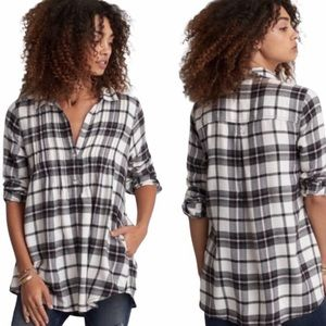 NWT AMERICAN EAGLE Jegging Fit Plaid Flannel Top